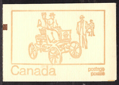 """CANADA BOOKLET #BK69fi 1 PANE/6, 1971 """"COUNTING MARK"""", COMPLETE"""