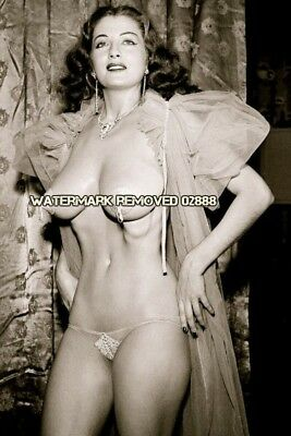 Vintage Pin Up Girl Tempest Storm Bra Panties 4x6 Glossy Photo Reprint