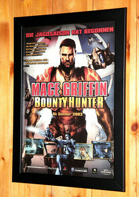 Mace Griffin Bounty Hunter Small Poster / Old Ad Page Framed PS2 Xbox Gamecube