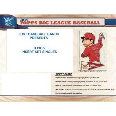 2019 TOPPS BIG LEAGUE Star Caricature  INSERT SINGLES U PICK COMPLETE YOUR SET