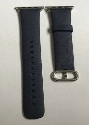 GENUINE Apple Watch strap Classic Buckle 42mm / 44mm Midnight Blue Leather