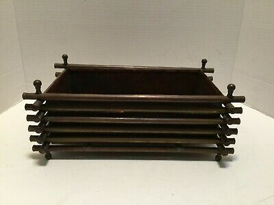 Arts And Crafts Handmade Copper Planter Vessel Unsigned Artisan Patina Rectangle