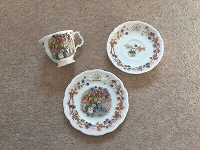 ROYAL DOULTON Brambly Hedge Autumn Trio