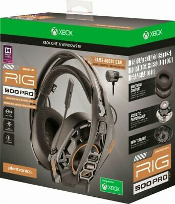 NEW Plantronics 211221-60 RIG 500 PRO Dolby Atmos Gaming Headset, Black