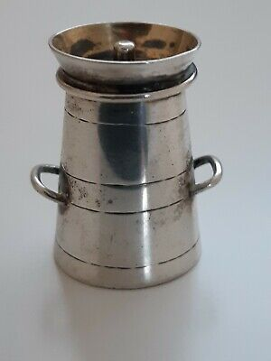 Victorian solid silver milk churn pepper pot Cornelius Saunders & Frank Shepher