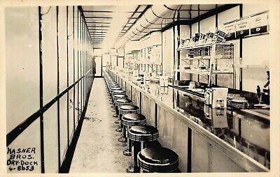 New York NY Kasner Bros. Diner new Phone Number Real Photo Postcard