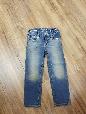 Baby Gap 1969 Boys Size 4 Years Skinny Blue Jeans Distressed