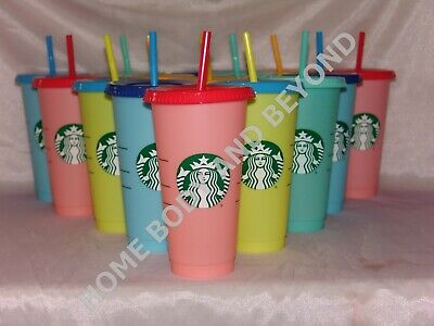 STARBUCKS Reusable Venti 24 Oz Color Changing Cold Cup Tumbler  You Choose Color