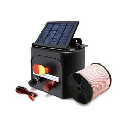 3km 0.1J Solar Electric Fence Energiser Charger with 400M Tape