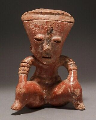 "A Pre-Columbian Nayarit Seated Female Figure, Chinesco Style, Type ""C""-"