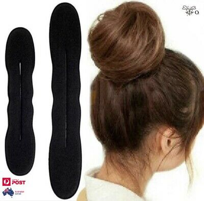 Hair Bun Maker Donut Shape Magic Foam Roll Sponge French Twist Easy Styling Tool