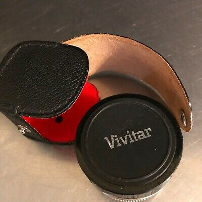 Vivitar Automatic Tele Converter 2X Made Japan Leather Case Photography