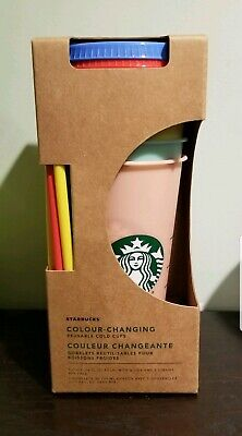 Starbucks COLOR CHANGING Reusable Cold Cups - 5 Pack 24oz NEW 2019