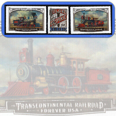 2019  TRANSCONTINENTAL RAILROAD  Complete Set of 3  USPS Forever® MINT Stamps