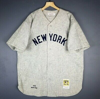 100% Authentic Babe Ruth Mitchell & Ness 1932 Yankees Jersey 52 2XL Mens