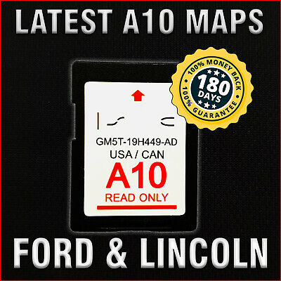LATEST A10 NEW 2019 GPS Navigation SD CARD SYNC FITS ALL FORD UPDATES A9 A8