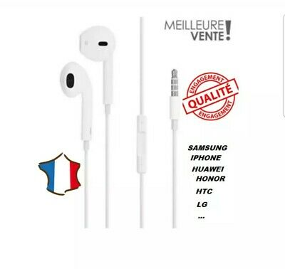 Ecouteurs Type Earpods Pour Iphone Samsung Huawei Honor Sony Lg Kit Main Libre