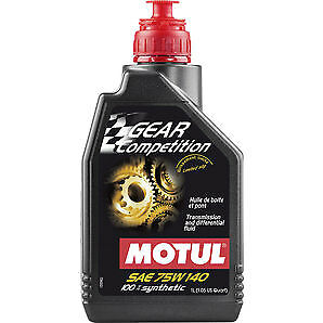 2x Motul 1Lt Olio Cambio Differenziale Gear Competition 75W140 LSD 100%Sintetico