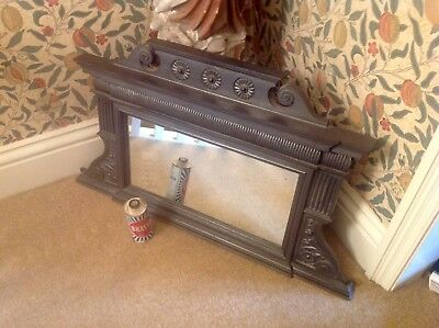 An Original Victorian Cast Iron Overmantle Mirror