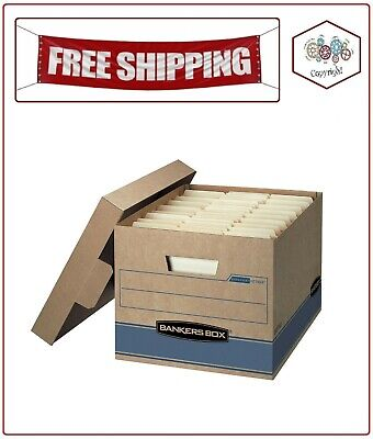 """Bankers Box Heavy Duty Storage Boxes, 10"""" x 12"""" x 15"""" (10 Pack)"""