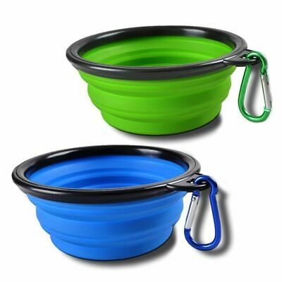 Collapsible Dog Cat Travel Bowl, Set of 2, Portable Pets Pop-up Food Water A5K5