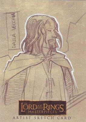 Lord of the Rings LOTR Masterpieces sketch Dalla Vecchia Aragorn