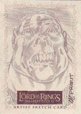 Lord of the Rings LOTR Masterpieces II sketch Propst