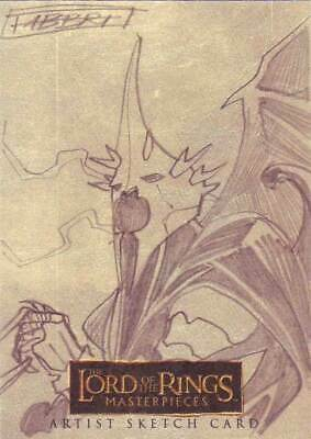 Lord of the Rings LOTR Masterpieces sketch Fabbri Witchking