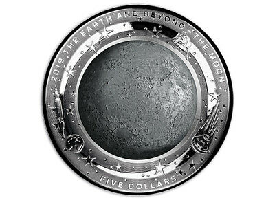 2019 Earth and Beyond - Moon 1oz Domed Silver Proof Coin Australia