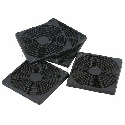 5Pcs 12CM PC Computers Case Fan Dustproof Dust Filter Black Plastic and Sponge