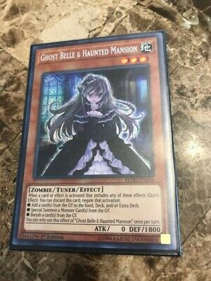 Ghost Belle & Haunted Mansion - FLOD-EN033 - Secret Rare 1st Edition - LP Yugioh