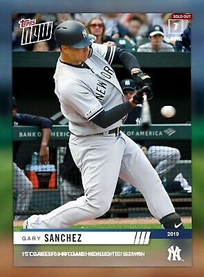 2019 TOPPS NOW VIDEO CARDS Gary Sanchez Topps Bunt Digital Card