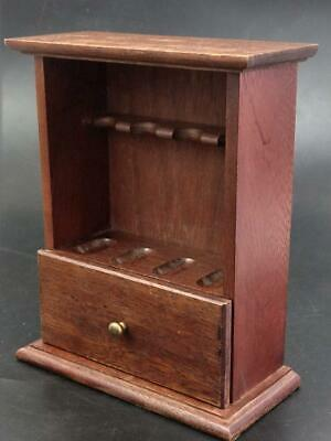 Mahogany Pipe Rack Stand With Draw 19th Century