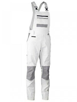 NEW Bisley Painters Whites  Painters Contrast Bib & Brace Overall - 117 REG -