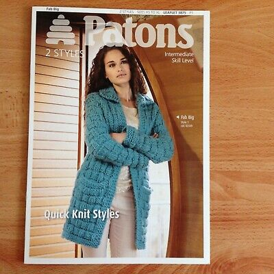 VAT FREE KNITTING PATTERN ONLY Patons Ladies Long Cardigan Fab Big