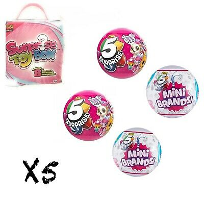 5 SURPRISE!- Made By ZURU! Mini Brands Balls Pink 100% REAL AUTHENTIC-NEW
