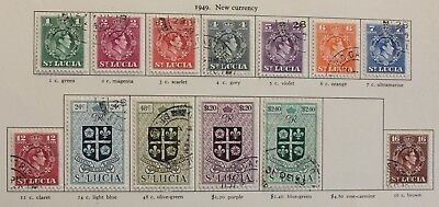 ST.LUCIA 1949-50 New Currency Definitive Set to $2.40 (13) SG 145-158 Fine Used