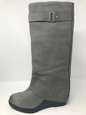 e7cdc87a7a733 SOREL WOMEN'S AFTER Hours Chelsea Wedge Boots Quarry Grey Suede New ...