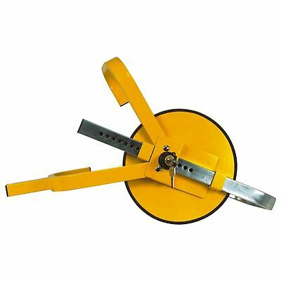 Round Safety Clamp High Security Lock Car Trailer Van Heavy Duty Full Face