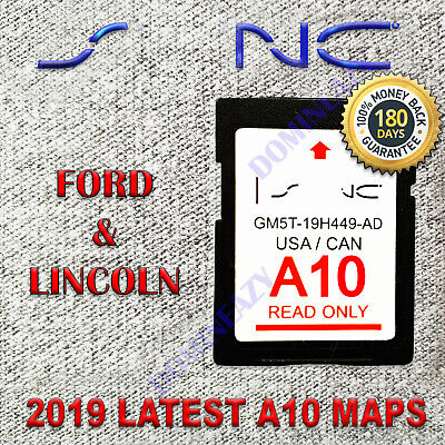 Latest 2013-2016 Ford Edge Escape Focus Fusion F150 SYNC2 A10 Navigation SD Card