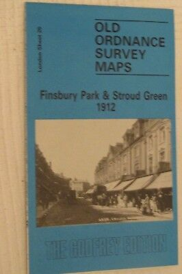 Old Ordnance Survey Map Finsbury Park & Stroud Green 1912