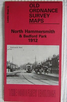 Old Ordnance Survey Map North Hammersmith & Bedford Park 1912