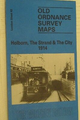 Old Ordnance Survey Map Holborn, The Strand & The City 1914