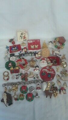 Vintage To Now Junk Jewelry Christmas Lot For Craft- Repair- Repurpose -  #1