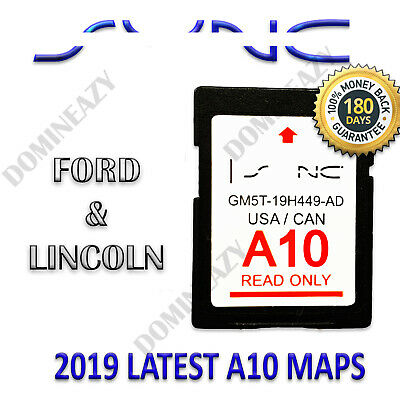 Latest A10 Ford Map Update Sd Card Gps Sync Navigation Fits Lincoln 2019 2018 A9