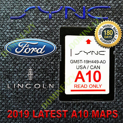 A10 Ford Lincoln Us Canada Sync Navigation Sd Card Map Update 2019 2020