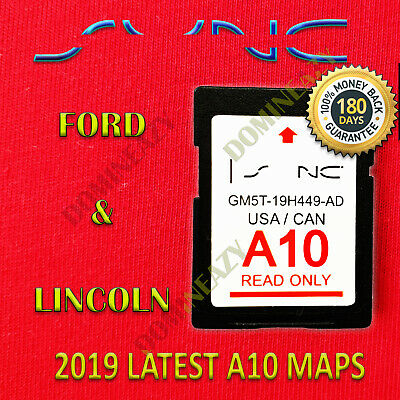 2019 / 2018 A10 MAP UPDATE GPS Navigation SD CARD SYNC FORD, LINCOLN UPDATES A9