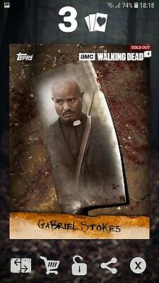 Topps The Walking Dead Card Trader - Gabriel Stokes Chop 2016 DIGITAL