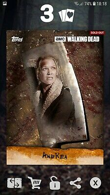 Topps The Walking Dead Card Trader - Andrea Chop 2016 DIGITAL