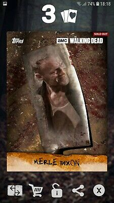 Topps The Walking Dead Card Trader - Merle Dixon Chop 2016 DIGITAL